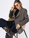 Подовжений двобортний піджак приталеного силуету, фото 3