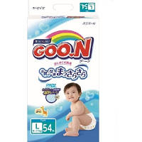 Подгузники GOO.N для детей L (9-14) кг, 54 шт. унисекс