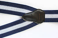 Подтяжки 'Classic-Line' синие с белой полосой