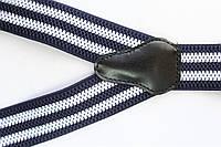 Подтяжки 'Classic-Line' синие с белыми полосками