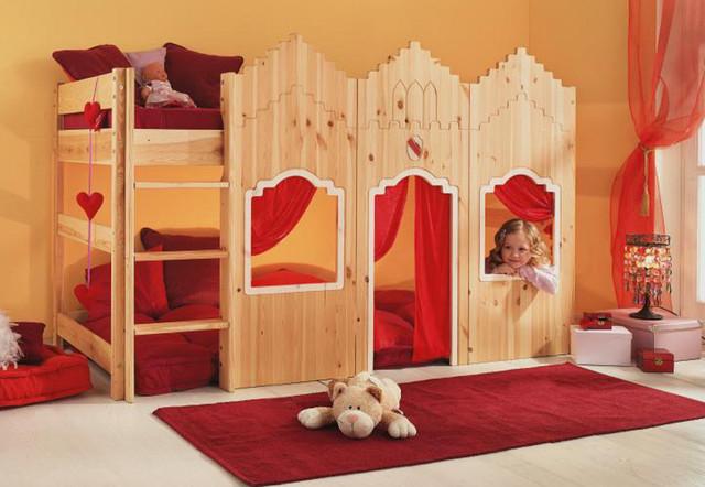 Детская дизайнерская кровать чердак