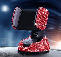 Підставка тримач під телефон (тримач) у стразах червоних