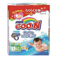 Трусики-подгузники GOO.N для активных детей S (5-9) кг, 62 шт. унисекс
