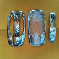 Накладки под ручки (мыльницы) на Опель Виваро (нерж.) 4-штуки OMCARLINE.