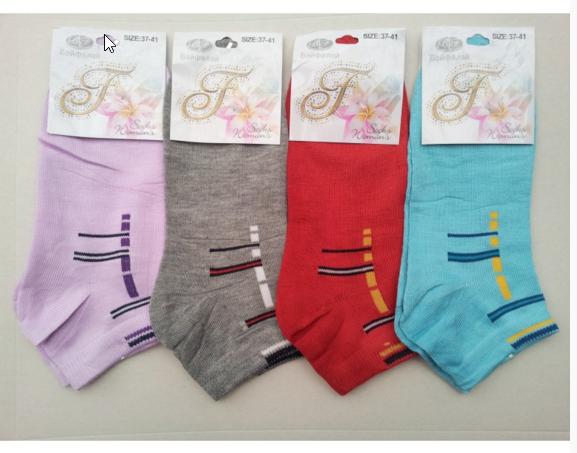 картинка коротки женские носки в расцветках