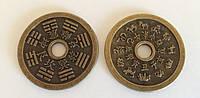 Фен-Шуй монета объемная ба-гуа зодиак (d = 5,3 см.)