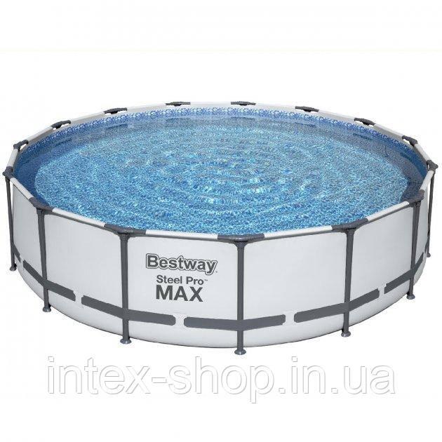 Каркасный бассейн Bestway 56438 (457 x 122 см) (3 028 л/ч, лестница, тент)