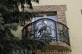 """Кованое балконное ограждение """"Подсолнух"""" (Киевская область) 2"""