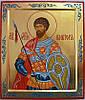 Икона Святого Виктора писаная на ковчежной доске