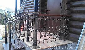 Кованое лестничное и балконное ограждение (Киевская область)