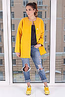 Модное пальто прямого кроя Д 100 Люкс, р 42-48, фото 1