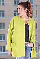 Модное пальто прямого кроя Д 100 Люкс, р 42-50, фото 1