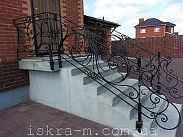 Кованое лестничное ограждение (Киевская область, Осещина)