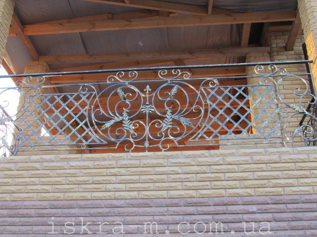 Кованое балконное ограждение (Киевская область, Броварской район)