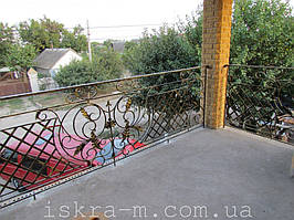 Кованое балконное ограждение (Киевская область, Броварской район) 3