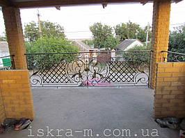 Кованое балконное ограждение (Киевская область, Броварской район) 4