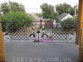 Кованое балконное ограждение (Киевская область, Броварской район) 5