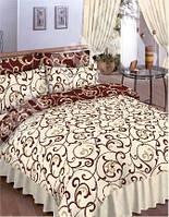 Полуторные комплекты постельного белья бязь -gold