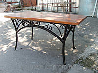 Деревянные столы с элементами ковки