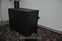 Піч-буржуйка-теплушка на дровах, брикетах, 4мм, Україна