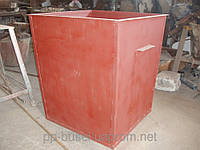 Контейнер для мусора металлический c крышкой, V=0,75 м.куб. (боковая загрузка), Украина