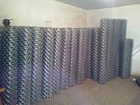 Сетка рабица, сетка рабица в рулонах, ячейка 50х60 мм, 1500*10000 мм, 1.6 мм черная