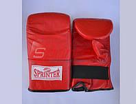 Снарядные перчатки SPRINTER из натуральной кожи р.XL красные