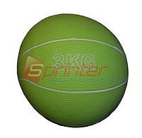 Медбол мяч для атлетических упражнений вес 3кг, d-17см
