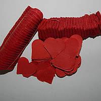 Конфетти Сердца бумажные 1 кг (красные)