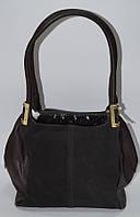 Стильная женская коричневая сумка замша