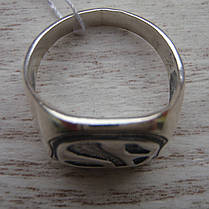 Серебряная мужская печатка с орнаментом, 8 грамм, фото 2