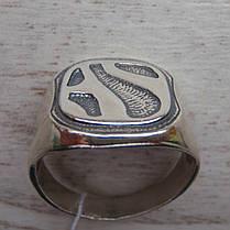 Серебряная мужская печатка с орнаментом, 8 грамм, фото 3