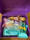 Детский игровой набор чемодан-трюмо 8254P туалетный столик для девочек + Подарок, фото 8