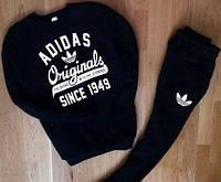 Мужской теплый спортивный костюм (кофта, штаны) Adidas Originals черный