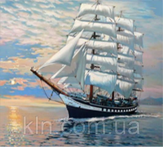 Набор алмазной вышивки Белые паруса на ветру KLN 40*30 см (арт. FS620)