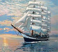 Набор алмазной вышивки Белые паруса на ветру KLN 40*30 см (арт. FS620) , фото 1