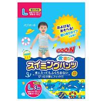 Трусики-подгузники для плавания Goo.N L (9-14) кг, ростом 70-90 см, 3 шт. для мальчика