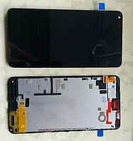 Microsoft (Nokia) Lumia 640 дисплей в сборе с тачскрином модуль с рамкой черный