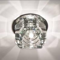 Точечный светильник Feron JD64 прозрачный хром