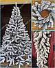 Литая елка Буковельская Заснеженная 1.50м.  / Лита ялинка / Елочка белая литая искусственная с пластика, фото 4