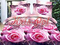 1,5-спальный комплект постельного белья ТМ KRIS-POL (Украина) ранфорс хлопок