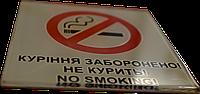 """Табличка """"Курение запрещено"""" настенная акриловая"""