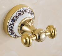 Крючок для ванной Double Classic Gold