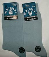 Носки мужские ЖИТОМИР двойной носок двойная пятка   цвет светло серый