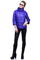 Дизайнерская молодежная куртка в модном цвете на весну воротник стойка