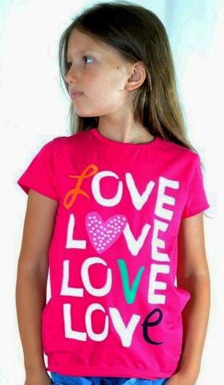 Футболка  детская Love малинка