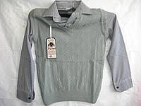 Рубашка подросток обманка Турция 8905