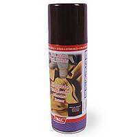 Темно-коричневый спрей краска для обуви palc ( для замши, велюра, нубука)