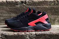 Кроссовки Nike Air Huarache черные с красным