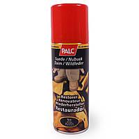 Красный спрей краска для обуви Palc (для замши, велюра, нубука)